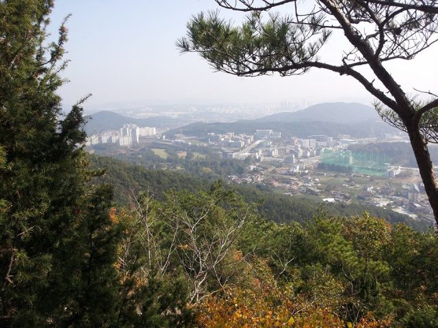 Daejeon, my city in Korea, as seen from above.
