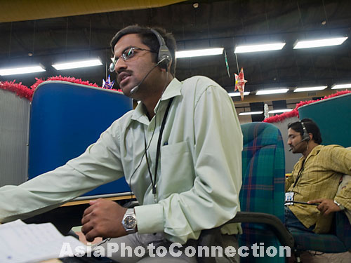 call center worker in bangalore, india